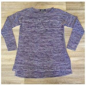 Ellen Tracy Purple Abstract Striped Sweater